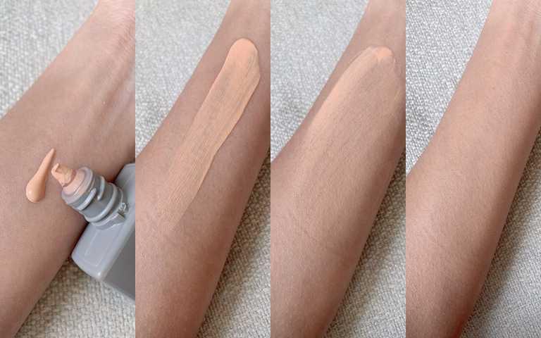 雖然是使用天然由來的紫外線反射劑,高達SPF50+/PA++++的防曬係數,但卻一點也不乾不澀,很好推勻,完全不需搭配粉刷、粉撲,用指腹也能完成零粉痕自然妝效。(圖/吳雅鈴攝影)