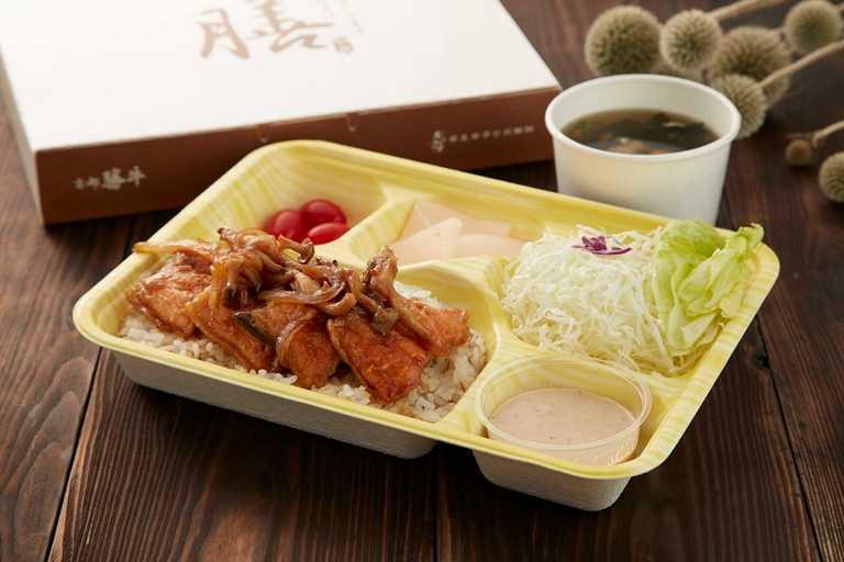 京都勝牛醬燒鮭魚便當。