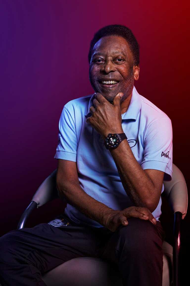 巴西傳奇球王比利(Pelé),為宇舶錶「HUBLOT Fusion Podcast」全新節目擔任壓軸巨星。(圖╱HUBLOT提供)