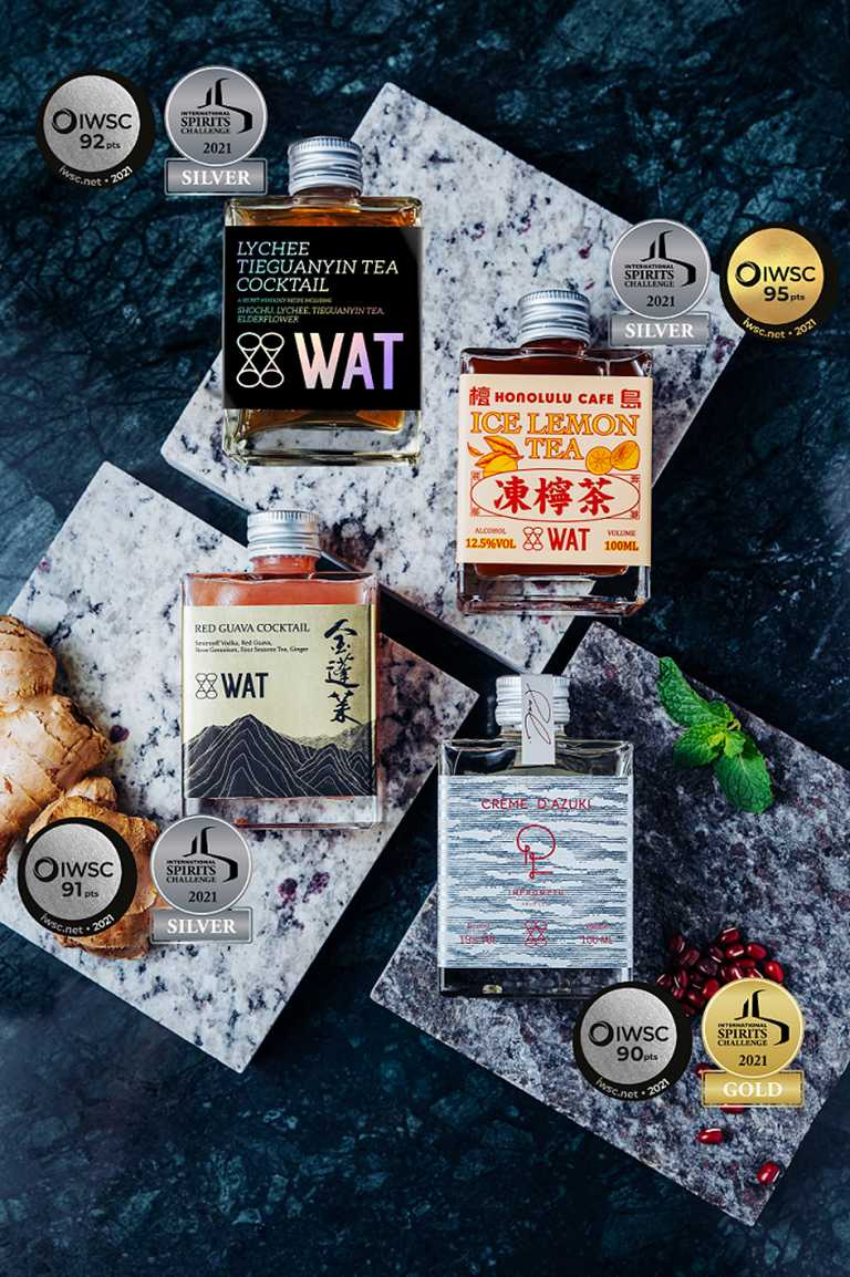 有著時尚造型設計的瓶裝雞尾酒,近年在台灣越來越受到歡迎。(喝酒不開車,未滿18歲請勿飲酒)