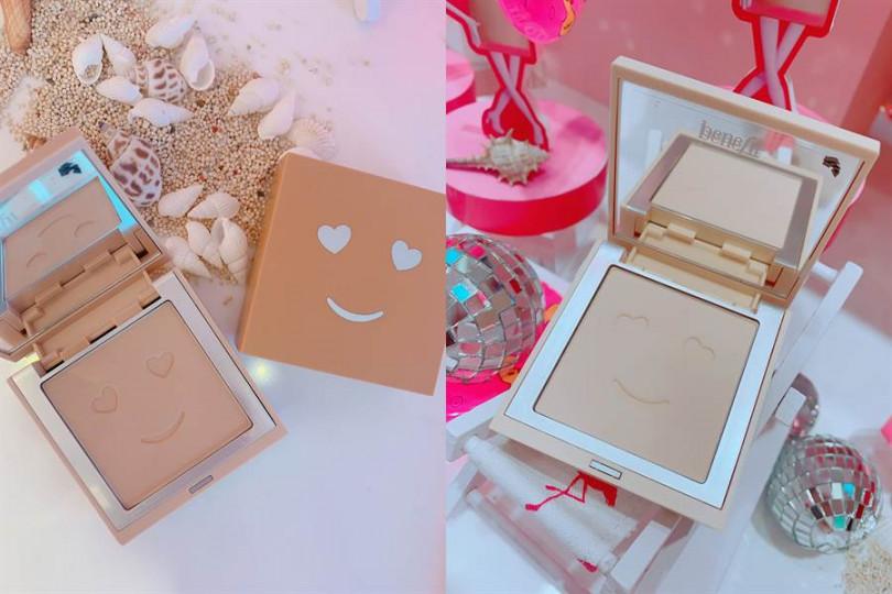 Benefit Hello Happy雙效柔膚蜜粉餅 7g/1,200元  不只外盒才有可愛笑臉,就連打開來的粉蕊上也是smile~,讓妳補妝也有好心情。
