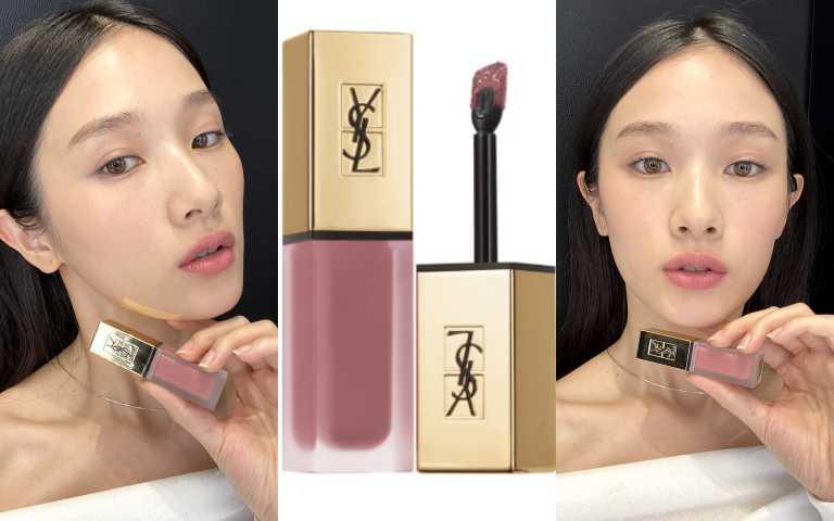 YSL時尚印記絲絨唇露#25/1360元(圖/品牌提供)