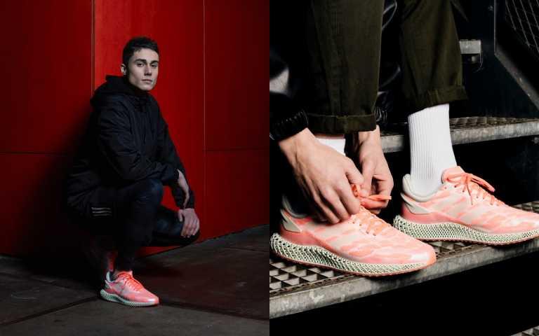 adidas 4D 1.0也推出粉橘色系鞋款,鞋面以亮眼粉橘為主色調。adidas 4D 1.0鞋款(男款)/8,800元(圖/品牌提供)