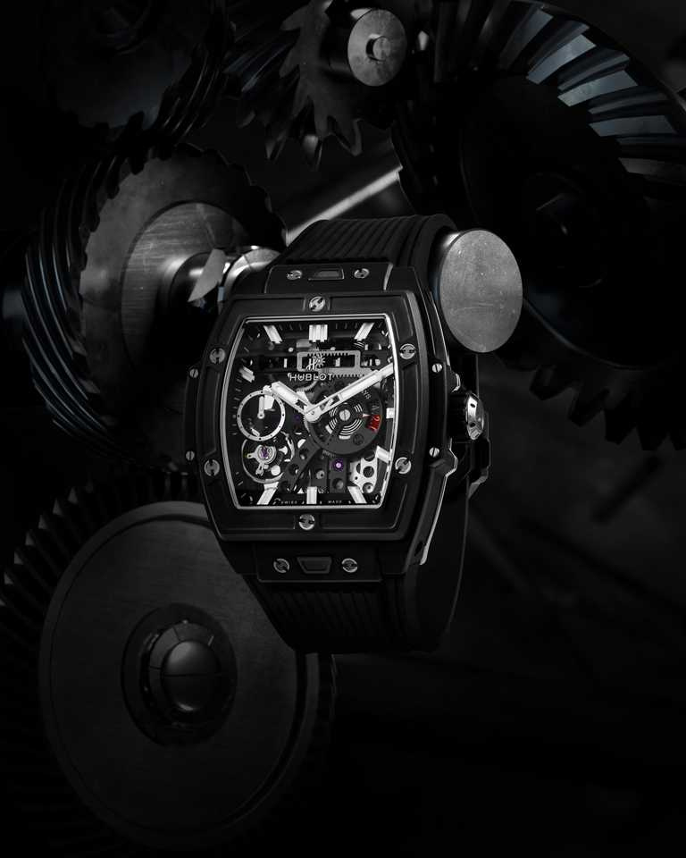 HUBLOT「Spirit of Big Bang Meca-10系列」腕錶,鈦金屬款╱717,000元。(圖╱HUBLOT提供)