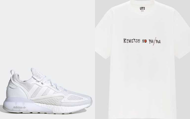 adidas Originals ZX 2K BOOST男鞋FX8834/5,090元;UNIQULO MANGA UT 印花短袖T恤/390元。(圖/品牌提供)
