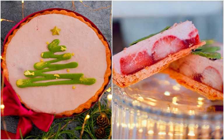 「草莓叮叮噹」甜派。(圖/PIETY派對提供)