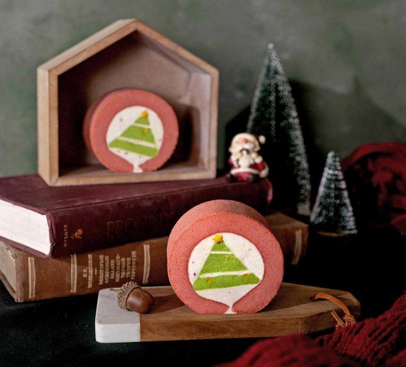 聖誕樹生乳捲。(圖/KINBER金帛手製提供)