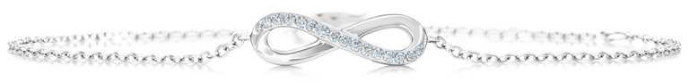 DE BEERS「Infinity」系列,18K白金鑽石手鍊╱33,000元。(圖╱DE BEERS提供)