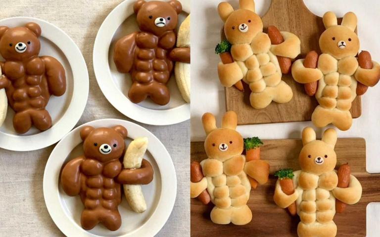 笑到吃不下去...創意十足的「肌肉麵包」,動物們全去健身房報到啦!