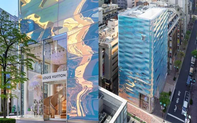 將水面波光粼粼變成建築 LV 位於銀座並木專門店的華麗變身