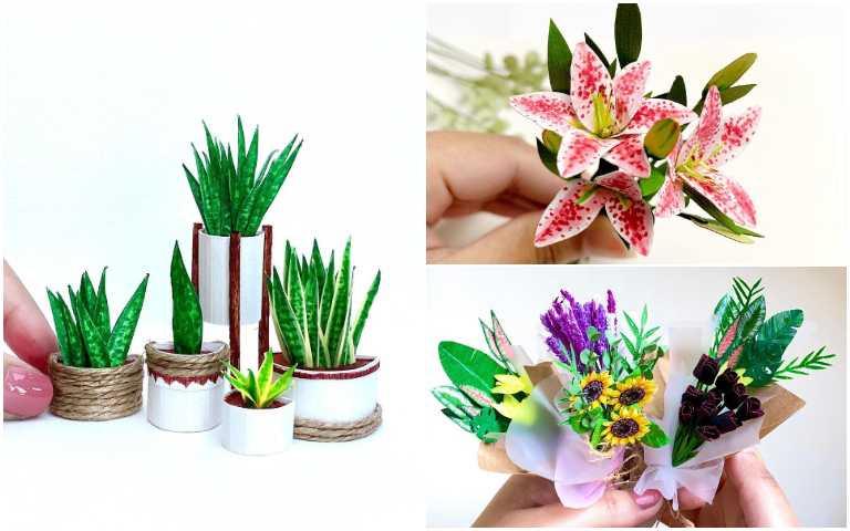 不用澆水、也不需要曬太陽!手殘黨也能輕鬆照顧的「紙雕植物」!