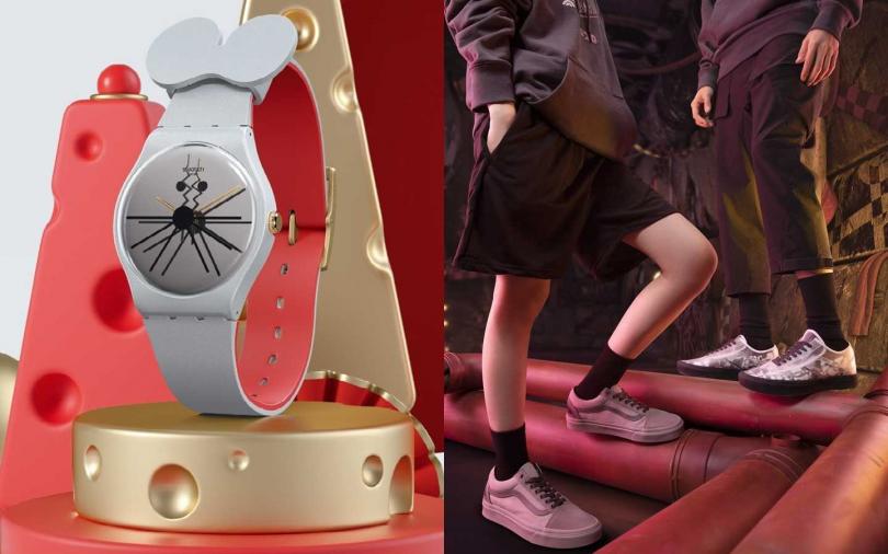 鼠年限定!時尚腕錶&滑板鞋款以鼠來寶為主題 為新年帶來滿滿好運!