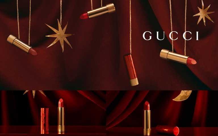 精品時尚唇膏Gucci搶先推出農曆新年限量版唇膏,風象星座、水象星座開運必選這一色開桃花!