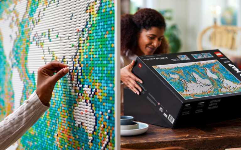 史上最大樂高登場!LEGO Art「世界地圖」,上萬片零件等你來挑戰!