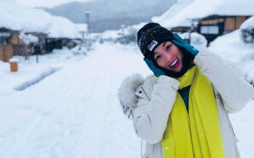 【娛樂TeaTime】滑雪炫新裝 夏語心 摔到胯下破洞