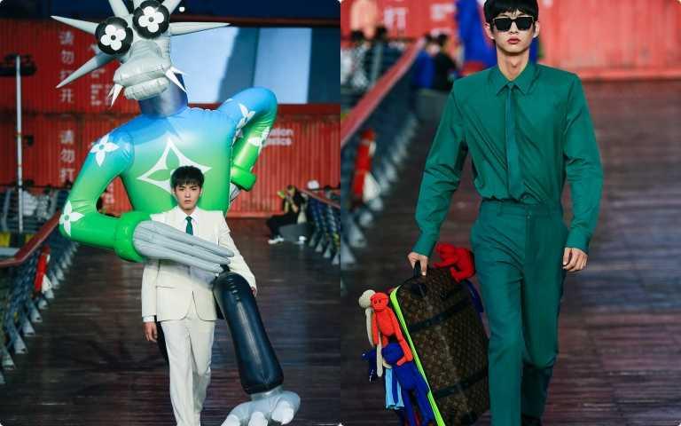 吳亦凡背2公尺充氣娃娃走秀!LV 2021春夏大秀抵達上海 與ZOOOOM一起鬧翻整座城市