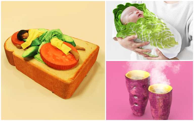日式幽默太療癒!超逼真吐司床、生菜羽絨被、大白菜包巾,被餓醒真的不意外!
