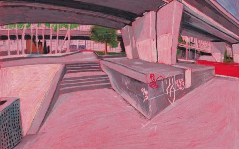 熱愛滑板文化 將視線聚焦在固定點上 ! BRETT SCAR 創造出更加特殊的繪畫作品~