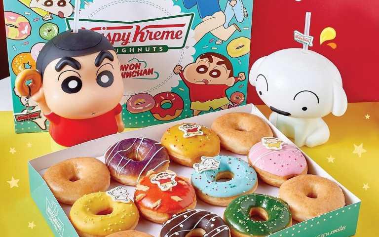 泰可愛!Krispy Kreme推出「蠟筆小新」造型水杯,還有多種新口味甜甜圈!