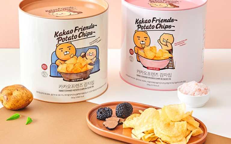 這桶不是油漆!「KAKAO FRIENDS油漆桶洋芋片」登場,玫瑰鹽、松露口味超唰嘴!