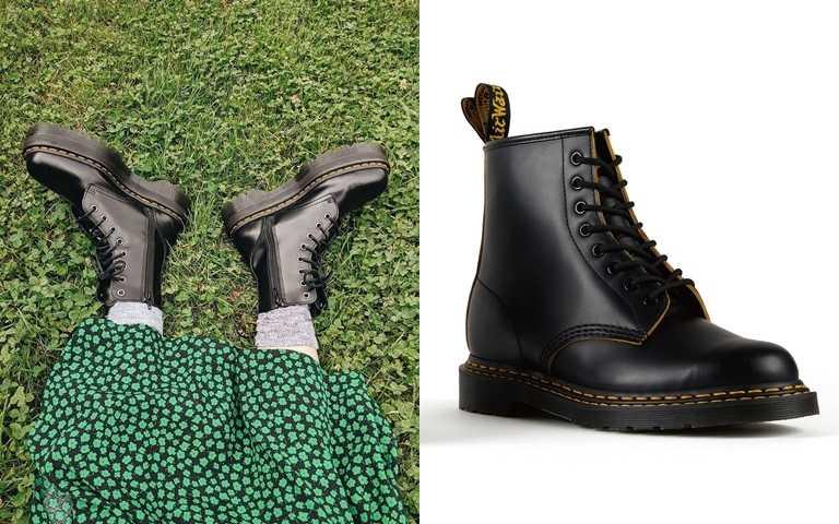 """馬汀靴最經典的代表符號車縫線終於變了!品牌60年來首度推出""""雙黃線""""設計!"""