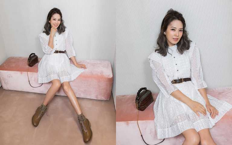 時尚媽咪Melody這回不當貴婦改穿少女心白洋裝 這身造型連閨蜜關穎都狂讚!
