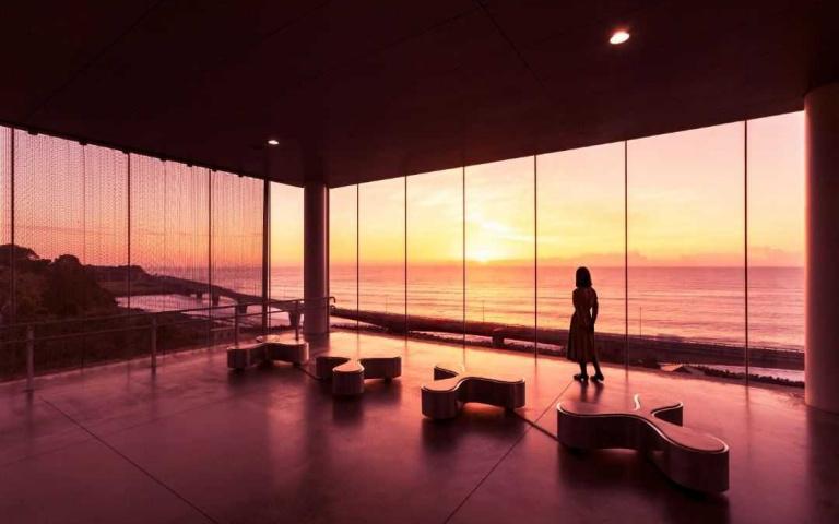飄浮在太平洋看日落!最美車站「JR日立駅」海上玻璃屋