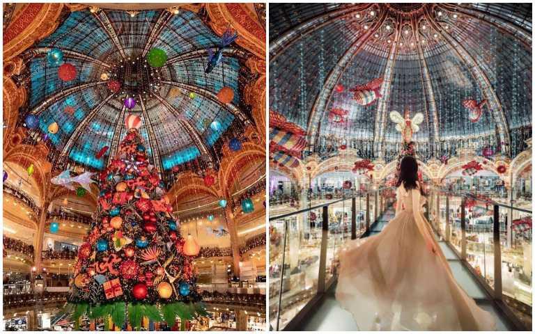 巴黎聖誕夢工坊!巨型聖誕樹和彩繪玻璃窗,打造超夢幻節慶氣氛!