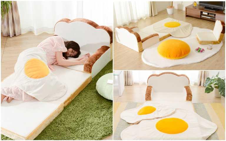 療癒度滿分!超巨大荷包蛋周邊、鬆軟吐司沙發,或坐或躺超舒適!
