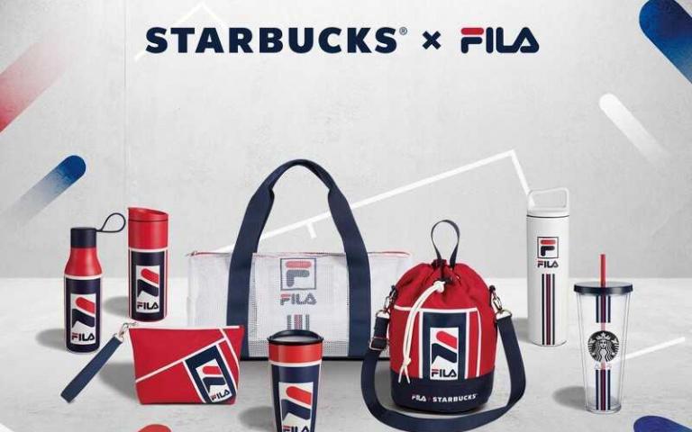 台灣買得到!星巴克搶搭運動風潮,攜手FILA推出經典「紅白藍」周邊!