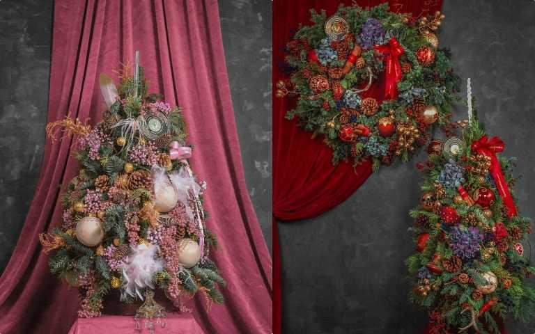 讓家裡成為最有質感的耶誕打卡景點!honeyDANIELS Florist 丹尼爾花藝推出量身訂製的粉紅燦金手工聖誕樹、還有多款鐘罩式恆星花聖誕樹等,在家PARTY兼防疫也很時髦!