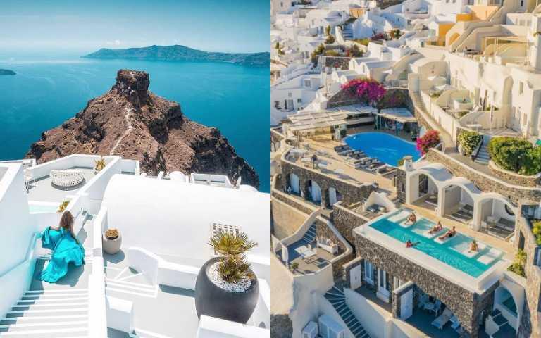 全世界的浪漫都在這裡!聖托里尼5間無邊際泳池飯店,絕美愛琴海盡收眼底