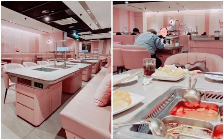這真的是海底撈!「粉色裝潢」突破違和感,讓少女心全滿出來啦!