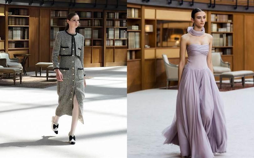 史上最美的書呆們,Chanel 高定系列這次在巴黎大皇宮蓋起巨大圖書館
