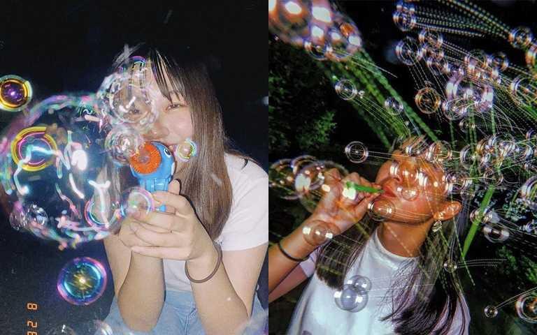 日韓女生IG上正流行「Soap  Bubble Shot」!超獨特的照片居然只用泡泡就完成!