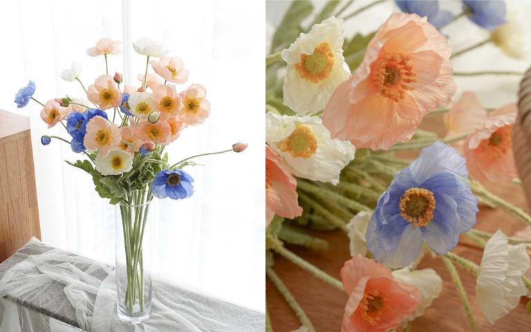 帶著水彩色調與皺紋紙般的冰島罌粟,為你獻上療癒與祝福!