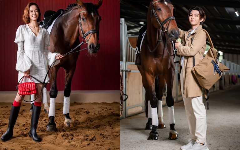 炎亞綸帥到翻!陳庭妮跟馬互動超可愛,兩人火花十足!騎馬看秀耍時髦 今年春夏這樣穿就對了!