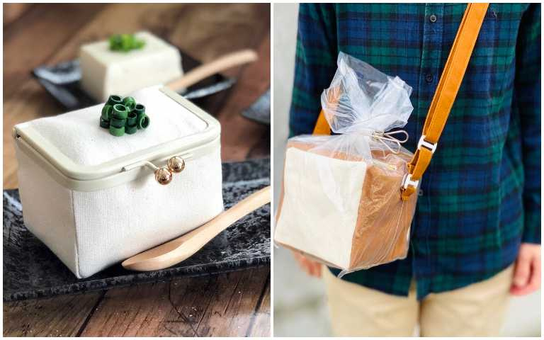 擬真程度100%!No-ticca食物系包包超Q萌,涼拌豆腐、袋裝吐司揹著走!