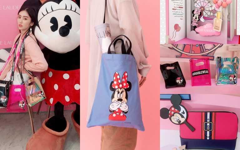 迪士尼控準備暴動!Estee Lauder × Disney合作,小型迪士尼樂園拍照打卡場景重現,還送你多款米妮限量包款
