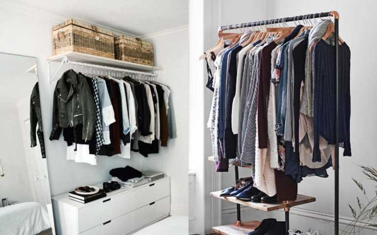 沒有衣櫃也沒關係!輕鬆打造開放式衣櫃小撇步,不僅時髦又超實用!