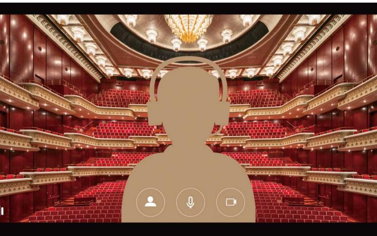 我一個人包場兩廳院!「劇場人」一定會愛的視訊背景~
