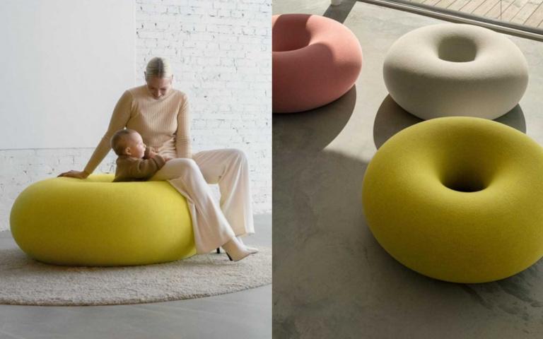 一坐就淪陷!超軟Q「巨型甜甜圈沙發」問世,想「懶出新高度」就靠它!