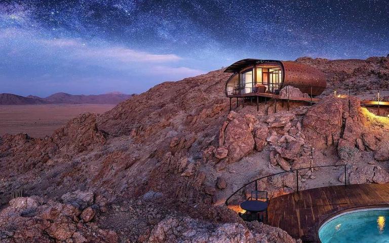 納米比沙漠上唯一的房間!完全不受外界打擾,享受自己的小宇宙!