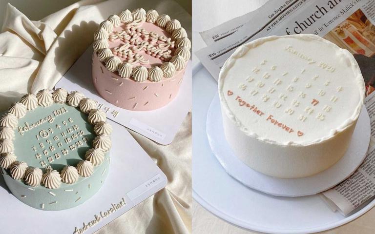 圈起最特別的那一天!韓風極簡「日曆蛋糕」