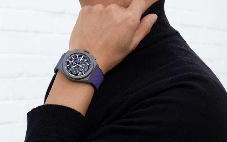 大膽奢華玩色!真力時Defy El Primero 21 Ultraviolet 首款紫色計時機芯腕錶
