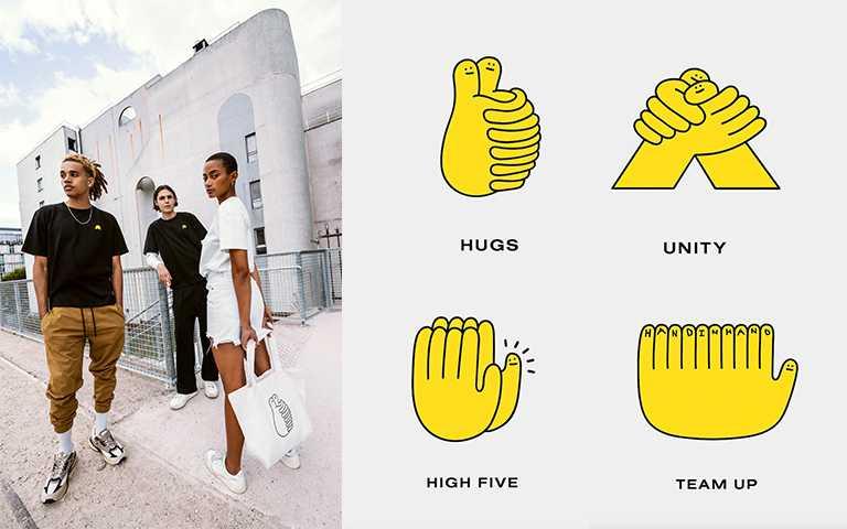 疫情時代的溫暖品牌HAND IN HAND!療癒「牽手」logo放上潮流單品,混亂中依舊握緊彼此的手