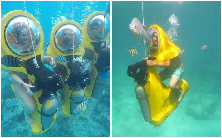旱鴨子不用怕!「海底摩托車」帶你輕鬆騎進海底世界!