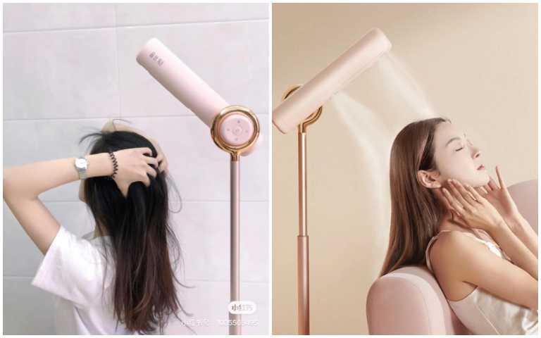 懶人救星!「站立式吹風機」讓妳解放雙手,躺著、趴著也能自動吹乾頭髮!