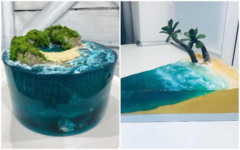這真的可以吃!神奇的「海洋蛋糕」,帶你一秒飛到馬爾地夫!