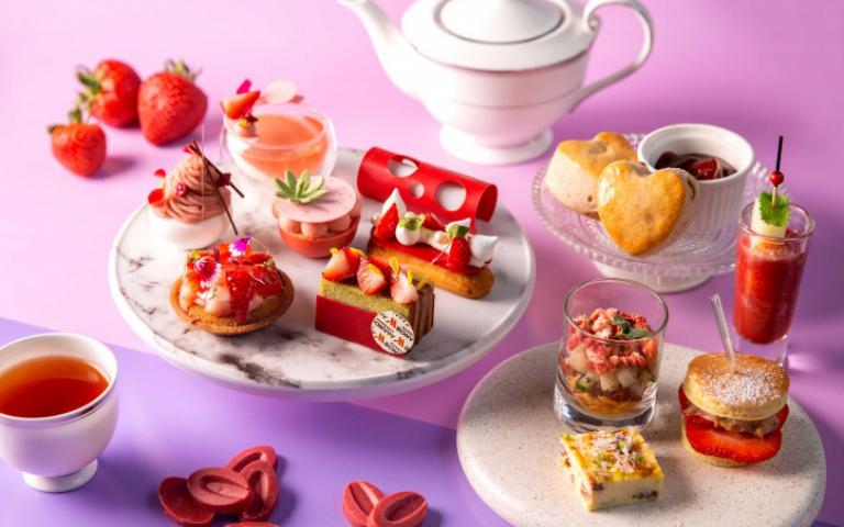 美拍系粉紅草莓甜點、下午茶 專治秋冬公主病